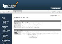 The Mes Oee Module Settings Inductive Automation