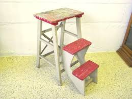 step stools for kitchen antique wood folding step stool kitchen rustic kitchen step stools folding