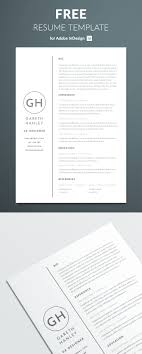The Perfect Basic Resume Template Free Download Indesign Simple