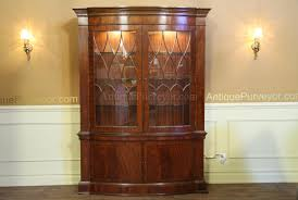 Hutch Display Cabinet High End Bow Front China Cabinet Hutch Mahogany Display Cabinet