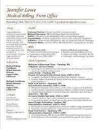 Billing Specialist Job Description Resume Jennifer Lowe Resume Medical Billing Career Clerk Sample 37