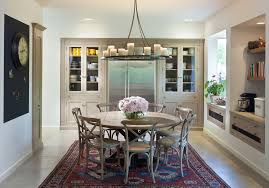 perfect 54 round pedestal dining table room traditional with built in china cabinet image by elad