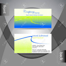 Professional Business Card Templates Abstract Professional Business Card Template Or Visiting Card