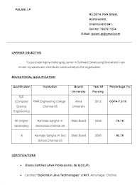 Simple Resume Format For Freshers Wikirian Com