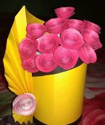 Flower Vase With Paper Art Paper Flower Vases Rs 599 Pair Paper Design Id 19617316762