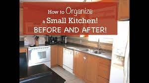 How To Organize A Small Kitchen Before And After Youtube