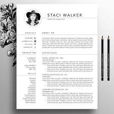 Photoshop Resume Template Adorable Modern Resume Template 48pk CV Template References Letter