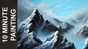 painting a misty mountain landscape with acrylics in 10 minutes you