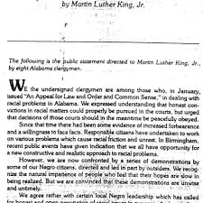 nice martin luther king jr s letter from birmingham jail letter regarding letter from birmingham jail summary
