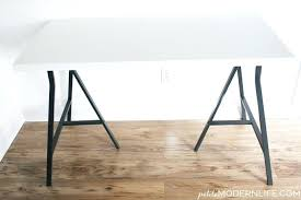 ikea desk tables trestle tables condo trestle tables petite modern life build your own desk petite modern life ikea small desk tables