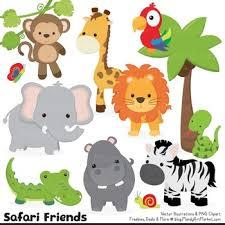 wild animals clipart. Unique Animals Wild Friends Cute Jungle Animals Clipart U0026 Vectors Inside T