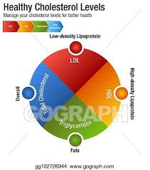 Cholesterol Chart Vector Stock Total Blood Cholesterol Hdl Ldl Triglycerides