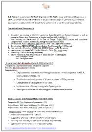 Drive Test Engineer Sample Resume Amazing Over 40 CV And Resume Samples With Free Download Resume Format