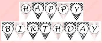 Letter For Banner Happy Birthday Banner Per Letter Printable Printable Free Printable