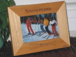 ski picture frame personalized souvenir frame laser engraved large ski