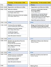 Agenda List Agenda Ripe Network Coordination Centre