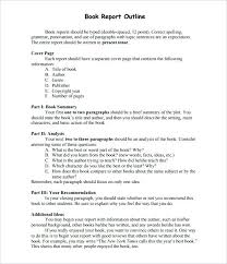 Sample Book Report Outline Template Download Proper Business Format ...