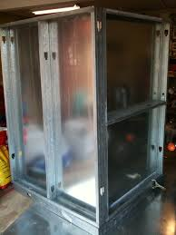 homemade powder coating oven skeleton steel studs and sheet metal