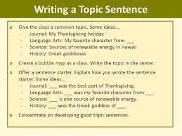 writing topic sentences ppt video online writing a topic sentence