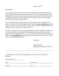 poirier elementary jump rope for heart parent info letter