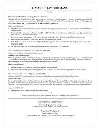 Loan Officer Resume Example Free Resume Maker Mortgage Banker Resume