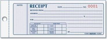 Rediform Money Receipt Book 2 75 X 7 625 Inches 100 Pages 8l800