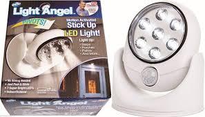 Ideaworks Motion Activated Cordless Light Light Angel Stick Up Led Motion Sensor Light As Seen On Tv
