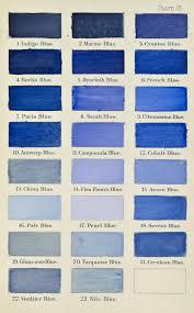 China Blue Colour Chart