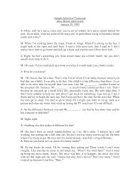 best photos of examples of a written interview example interview interview transcript example