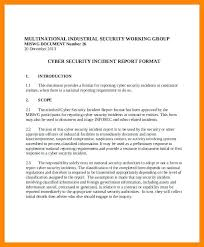 Cyber Security Incident Response Template Security Incident Report