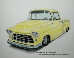 1955 Chevy Pick-up Truck - N. E. Thompson - Draw to Drive