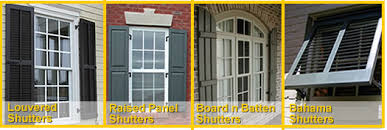 exterior house shutters. Plantation Louvered Shutters, Colonial Raised Panel Tudor Board And Batten Shutters Custom Exterior Window House I