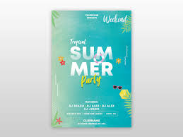 Summer Tropical Free Psd Flyer Template By Pixelsdesign
