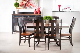 this elegant elm wood dining set is our newest dining room addition at gibson furniture amish made in ohio the elm wood grain table top includes matching
