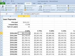Calculate Loan Payment Formula Calculating Loan Payments With Excel 2010s Pmt Function