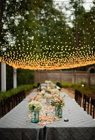 Breathtaking Wedding Reception Décor Ideas With String Lights Stunning Garden Wedding Reception Ideas Design