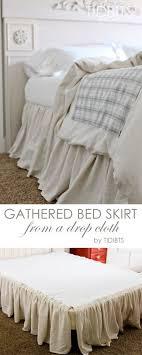 diy gathered bed skirt