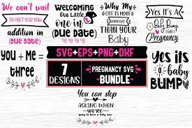 Disponibles en png et en vecteurs. 7 Pregnancy Quotes Bundle Graphic By Svg In Design Creative Fabrica