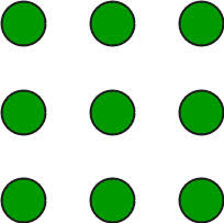 The first line must go diagonally down and right from 1 to 9 then top on 9. Puzzle Draw 4 Straight Line In 3 3 Matrix 9 Dots Geeksforgeeks