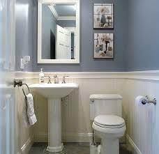 Models Traditional Half Bathroom Ideas Blue And White Bath In Modern