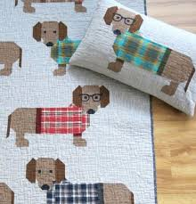 Dog Quilt Patterns Interesting Dogs In Sweaters Quilt For Doxie Lovers Quilting Cubby