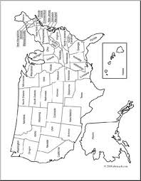 Small Picture Clip Art United States Map coloring page Labeled I abcteachcom