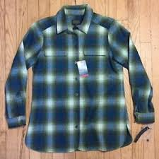 Pendleton Shirt Size Chart Details About Womens Pendleton Board Shirt Nwt Blue Gree Ombre Shadow Plaid Wool Petite Small