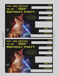 star wars birthday invite template new star wars birthday party invitation templates free best ideas