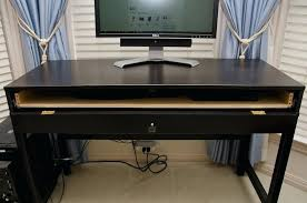 ikea computer desk with keyboard tray smll plce hckers hckers ikea computer desk keyboard tray