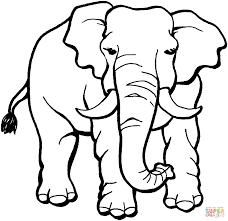 Small Picture Elephant coloring page Free Printable Coloring Pages