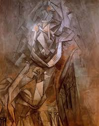 woman sitting in an armchair 1912 pablo picasso i love how the focal point of the painting is bathed in a glowing light