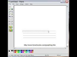 Make Your Own Graph Paper In Windows Step 1 Drawing A Grid In Paint