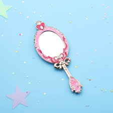 Hand mirror Animated This Small Handheld Mirror Is Cute Kawaii Feminine Accessory Gift For Any Bijou Blossoms Kawaii Sailor Moon Spiral Heart Hand Mirror Pink Bijou Blossoms