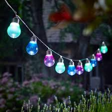 funky outdoor lighting. perfect for entertaining and outdoor dining grace your garden with these funky coloured lightbulb shaped lighting r